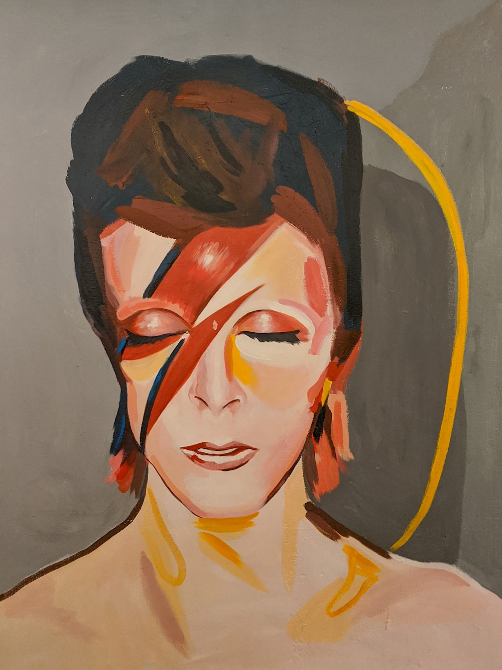 painting of David Bowie as Ziggy Stardust